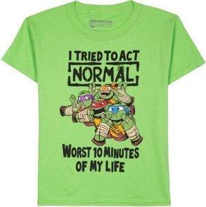 Teenage Mutant Ninja Turtles Tried To Act Normal Boys Graphic Tee