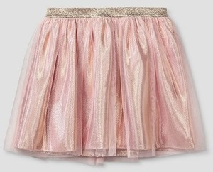Cat & Jack Girls' Tutu Skirt Pink and Gold Lame