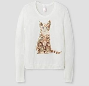Girls' Pullover Sweater Cat & Jack- Almond Cream