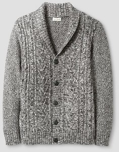 Boys' Shawl Collar Cardigan Grey - Cat & Jack™