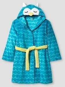 Girls' Hooded Robe Cat & Jack - Blue Owl