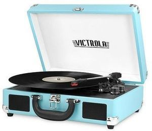 Victrola Portable Suitcase Record Player with Bluetooth
