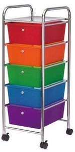 Studio A 5-Drawer Rolling Rainbow Cart