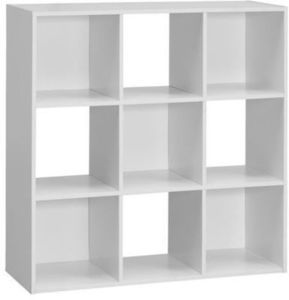 Basic Elements 9 Cube Storage - White