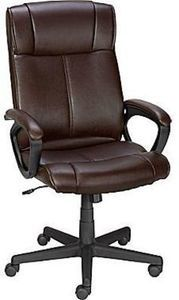 Staples Turcotte Luxura High Back Office Chair, Brown Turcotte chair