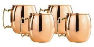Solid Copper 16-ounce Moscow Mule Mugs (Set of 4)