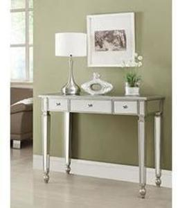 Coaster Coaster Home Furnishings Contemporary Console Table, Antique Silver