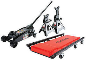 Craftsman 3 ton Floor Jack with Jack Stands and Creeper Set