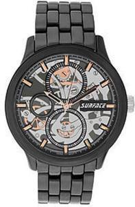 Surface Men's Gunmetal Skeleton Bracelet Watch