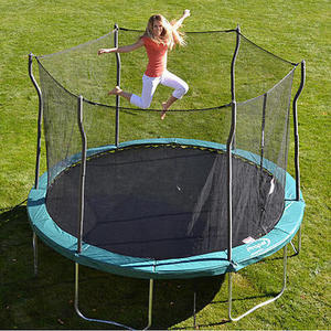 12' Trampoline with Enclosure and Free Jump N' Jam Basketball Set