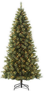 Jaclyn Smith 7' Pre-Lit Clearwater Slim Cashmere Pine Tree