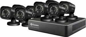 Swann PRO SERIES HD 8-Camera Outdoor Surveillance System - Black