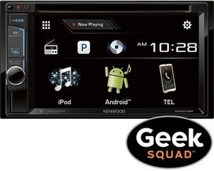 """Kenwood 6.2"""" In-Dash Receiver with Built-In Bluetooth & Apple CarPlay + Free Geek Squad Installation"""
