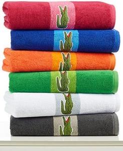 Lacoste Signature Logo Bath Towel