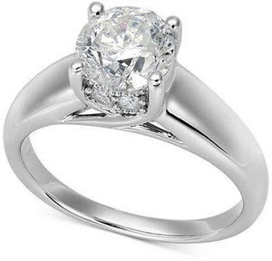 Diamond Solitaire Engagement Ring in 14k White Gold (1-1/2 ct. t.w.)