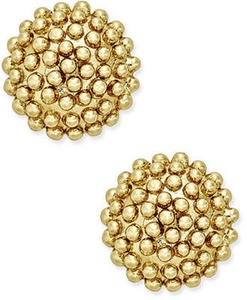 Cluster Stud Earrings in 18k Gold-Plated Sterling Silver