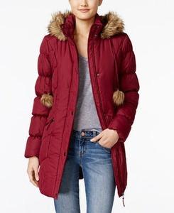 American Rag Faux-Fur-Trim Puffer Coat