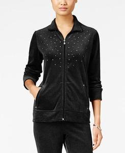 Rhinestone Velour Jacket