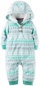 Hooded Fair Isle Coverall, Baby Girls (0-24 months)