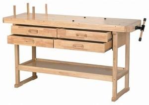 Hardwood Workbench w/ 4 drawers