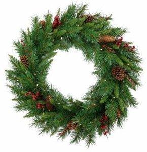 "24"" Woodland Berry Wreath"