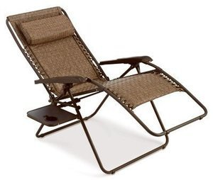 Four Seasons Courtyard Zero Gravity Chair, Padded, XL