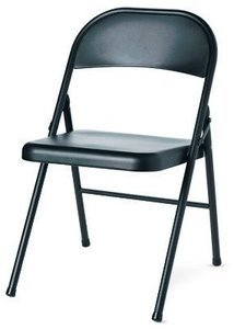 Steel Folding Chair, Black, Must Purchase in Quantities of 4 Steel Folding Chair