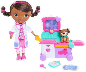 Doc McStuffins Toy Hospital Magic Talking Doc and Cart Set