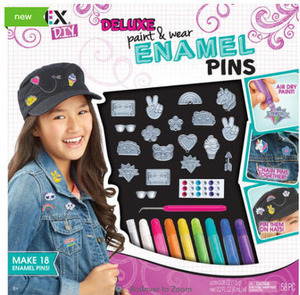 Alex Toys DIY Ultimate Paint and Wear Enamel Pins Craft Set