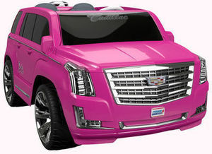 Power Wheels Barbie Cadillac Escalade 12 Volt Ride On