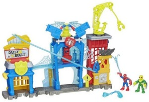 Playskool Heroes Marvel Super Hero Adventures Spider-Man Web-Quarters Playset