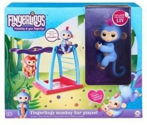 Fingerling Monkey with Monkey Bars & Hammock
