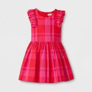 Cat & Jack Girls Plaid Dress