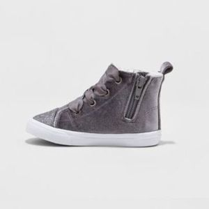 Toddler Girls' Hayleigh High Top Sneakers Cat & Jack - Gray