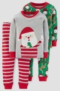 Carter's Toddler Boys' 4pc Long Sleeve Milk & Cookies Pajama Set