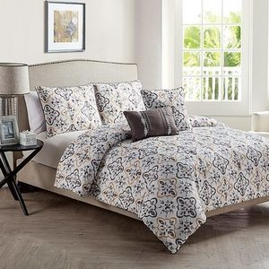 VCNY Home 5-Pc. Sherpa Comforter Sets