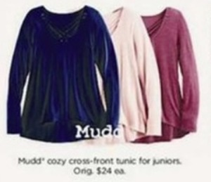 Mudd Juniors Cozy Cross-Front Tunic