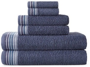 Home Expressions Cotton Ombre Stripe Bath Towel