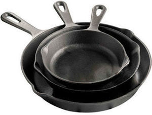 "Cooks Cast Iron Reversible Grill | 11"" Round Grill 