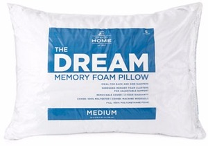JCPenney Home The Dream Side Sleeper Memory Foam Pillow