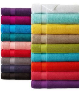 "JCPenney Home Solid Bath Towels Home Trellis 30x54"" Solid Bath Towel"