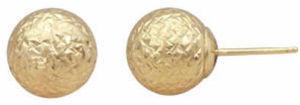 14K Gold 9mm Ball Stud Earrings