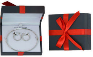Sterling Silver Bangle and Earrings Set