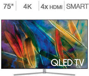 "Samsung 75"" 4K Ultra HD QLED LCD TV"