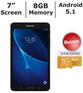"Samsung Galaxy Tab A 7"" Tablet + 16GB microSD Card"