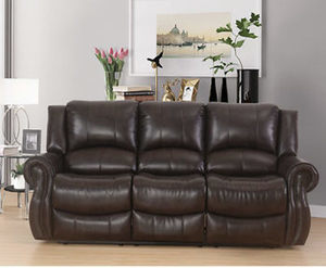 Abbyson Living Bradford Faux Leather Reclining Sofa