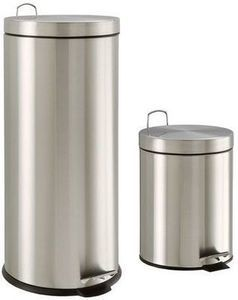 Neu Home 30 Liter Stainless Steel Waste Can w/ Bonus Waste Can