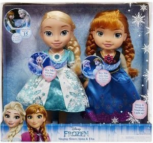 Disney Olaf's Frozen Adventure Singing Sisters Anna And Elsa 2 Pack