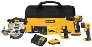 DeWalt 20V Max 4 Tool Combo Kit