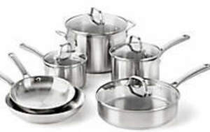 Calphalon 10-Pc Classic Stainless Steel Set